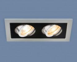 Светильник 1031/2 MR16 SL/BK серебро/черный