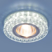 Светильник 8381 MR16 CL/SL прозрачный/серебро