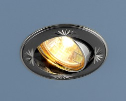 Светильник 104A MR16 GU/SL черный/серебро
