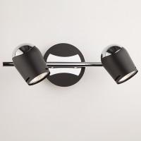 Настенный светильник с поворотными плафонами 20057/2 хром/черный