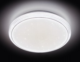Потолочный светодиодный светильник с пультом F14 WH 72W 400*400*85 (ПДУ ИК)