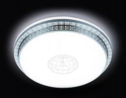 Светильник светодиодный F128 WH SL 72W D500 ORBITAL Многофункциональный (ПДУ)