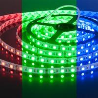 Светодиодная лента 60Led 14,4W IP20 мульти (5050 12V 60Led 14,4W IP20 RGB) (5 метров)