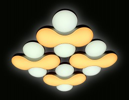 Светильник светодиодный FG1066/4 WH 208W D720*720 ORBITAL (ПДУ РАДИО 2.4)