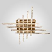 Светодиодный потолочный светильник с хрусталем 90041/8 золото