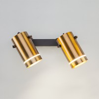 Настенный светодиодный светильник с поворотными плафонами 20063/2 LED античная бронза
