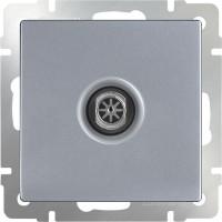 ТВ-розетка проходная  (серебряный) WL06-TV-2W