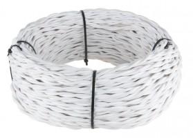 Ретро кабель витой (!) 2х1,5  (белый)