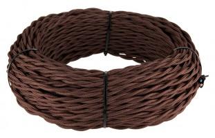 Ретро кабель витой (!) 2х2,5 (коричневый)