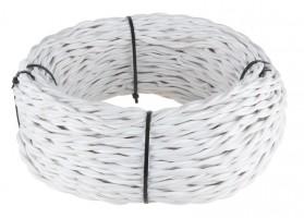 Ретро кабель витой (!) 3х1,5  (белый)