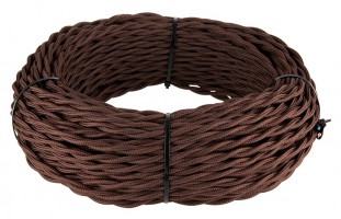 Ретро кабель витой (!) 3х1,5  (коричневый)