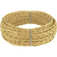 Ретро кабель витой (!) 3х1,5  (песочный)