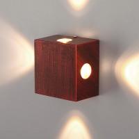 Kvatra красно-черный уличный настенный светодиодный светильник 1601 TECHNO LED