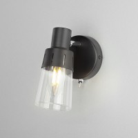 Настенный светильник с выключателем 20081/1 черный