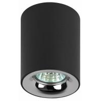 Накладной потолочный светильник OL1 GU10 черный/хром