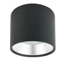 Накладной потолочный светильник OL8 GX53 черный+серебро