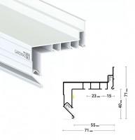Профиль гардина ПФ8048 2р-2,2м с нижней заправкой